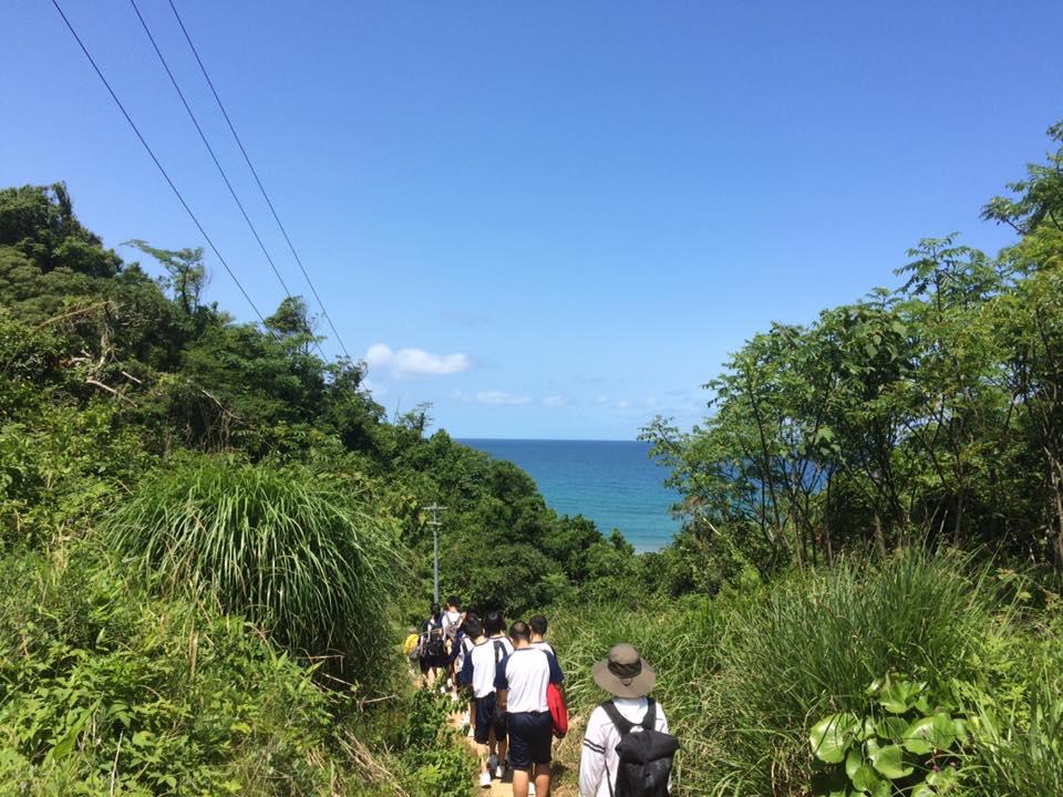 岩美高校の山陰海岸ジオパーク学習牧谷〜熊井浜〜羽尾海岸2017年