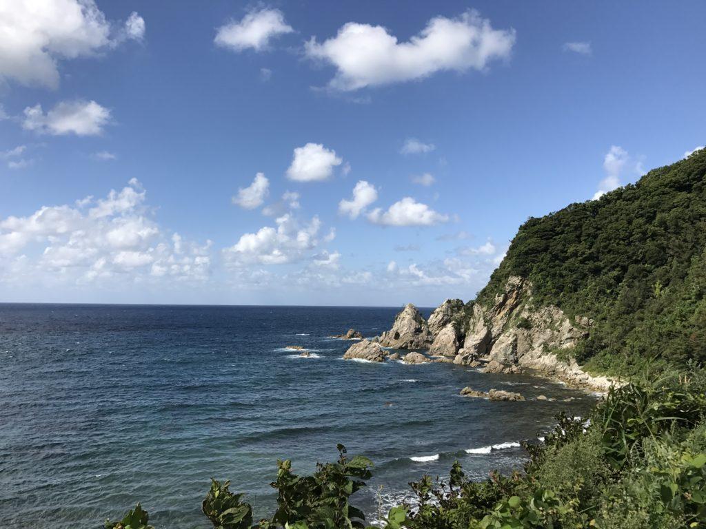 観音山~田井ノ浜~但馬御火浦~城山公園からの諸寄漁港