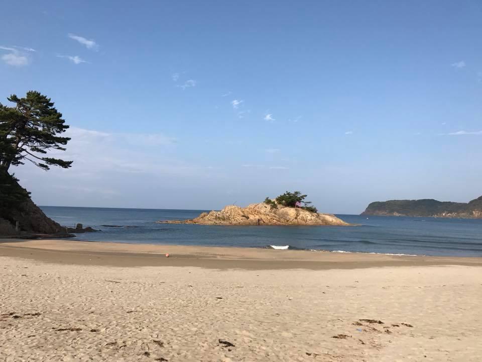 浦富海岸は日本で3番目にできた海水浴場