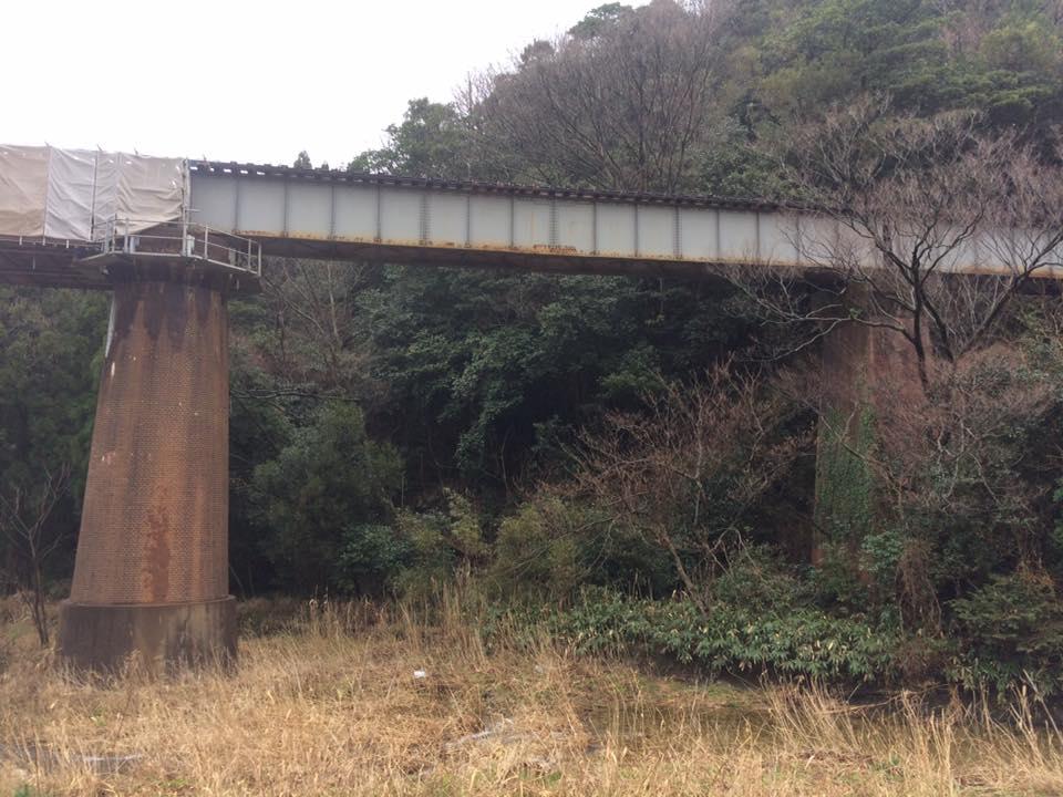 陸上川に沿って~陸上鉄橋~石龍さん~田河内集落