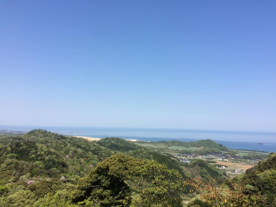 摩尼山から鳥取砂丘