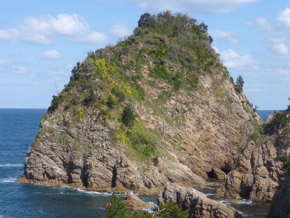 岩美町城原海岸・菜種五島と黒島の風景動画