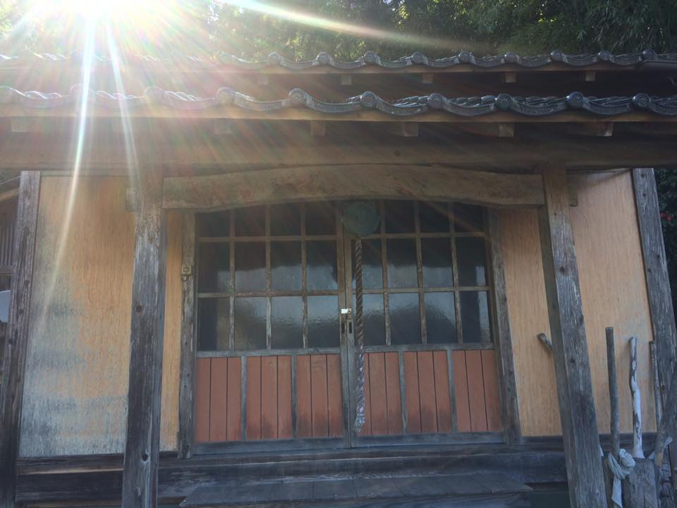 太田薬師堂と集落の道しるべ石碑