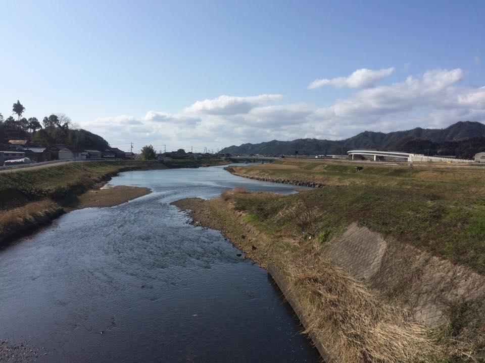 岩美町の清流でもある 小田川と蒲生川の合流地です。