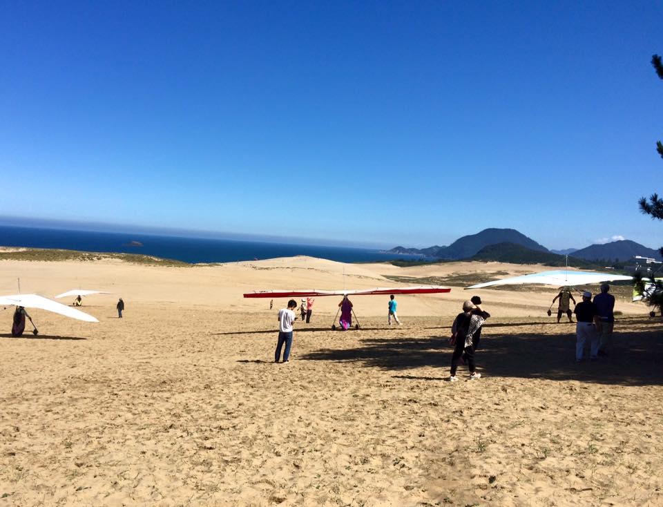 鳥取砂丘ハングライダー