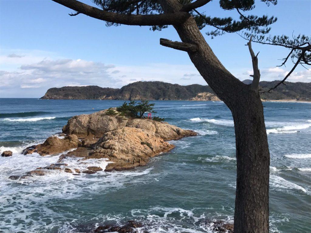 岩美町浦富の熊野神社と荒砂神社に初詣