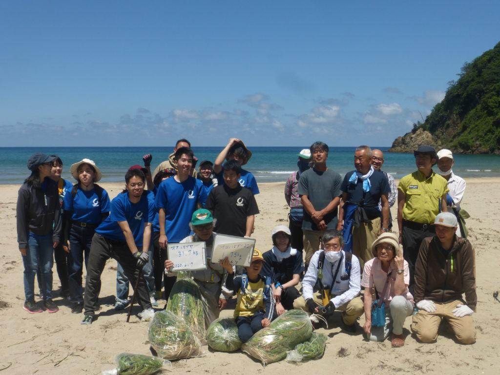 第6回オカヒジキ戻ってこいこいプロジェクトin熊井浜開催レポート