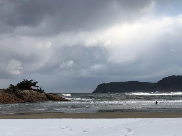 2021年の岩美町は積雪で迎えました