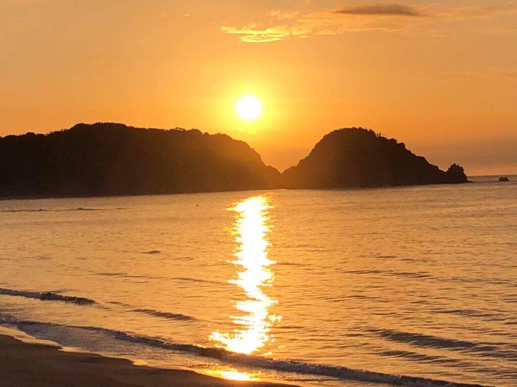 東浜海岸の夕陽定点観測2