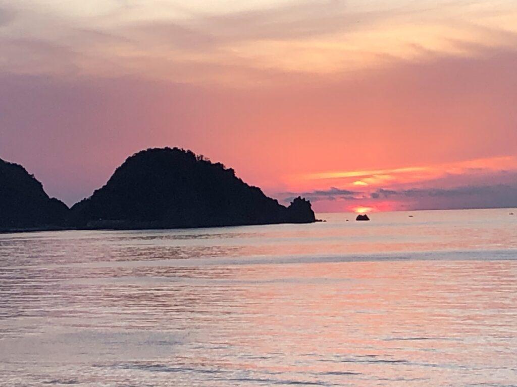 岩美町東浜海岸の夕日定点観測4