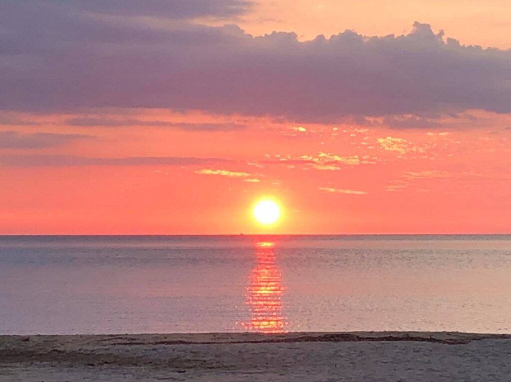 熊井浜の夕日