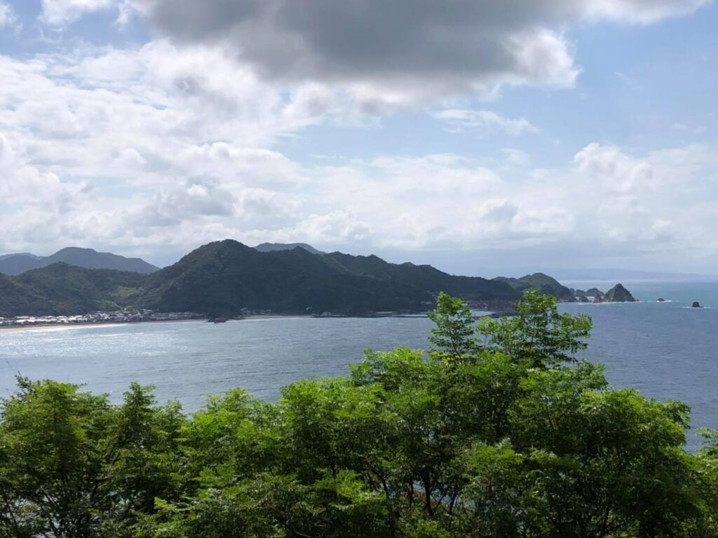 龍神岬から城原海岸