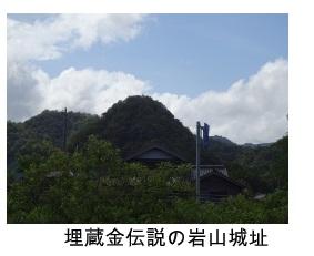 埋蔵金伝説の岩山城址